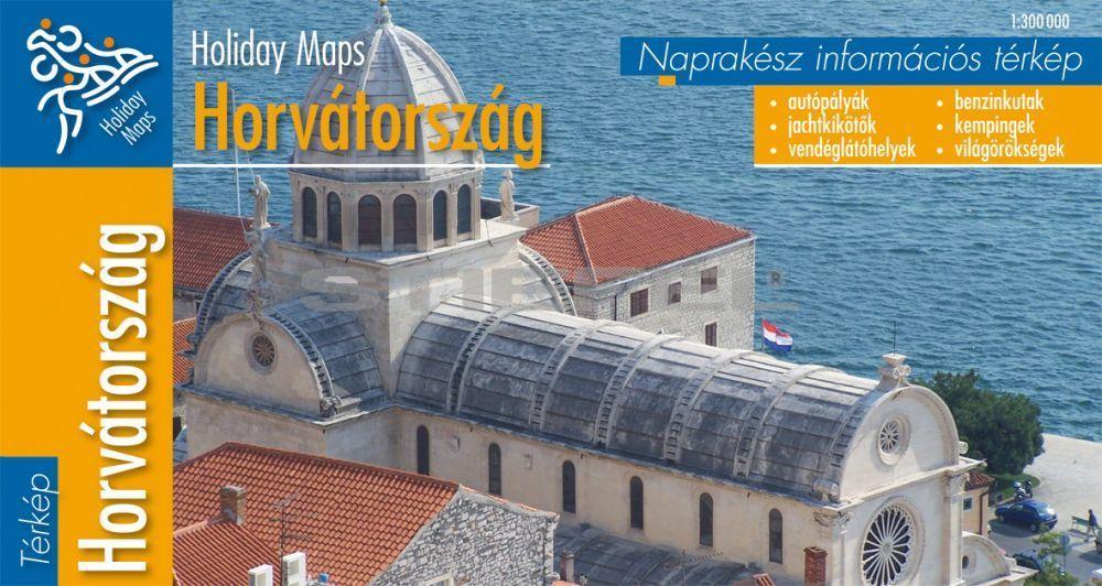 Horvátország hajtogatott autótérkép