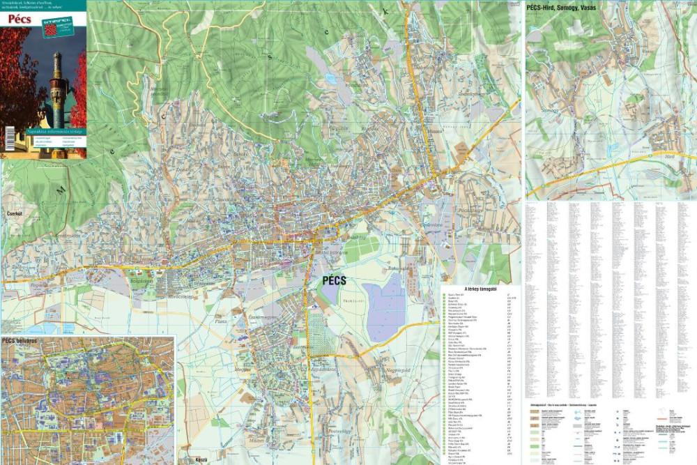Pécs város térképe