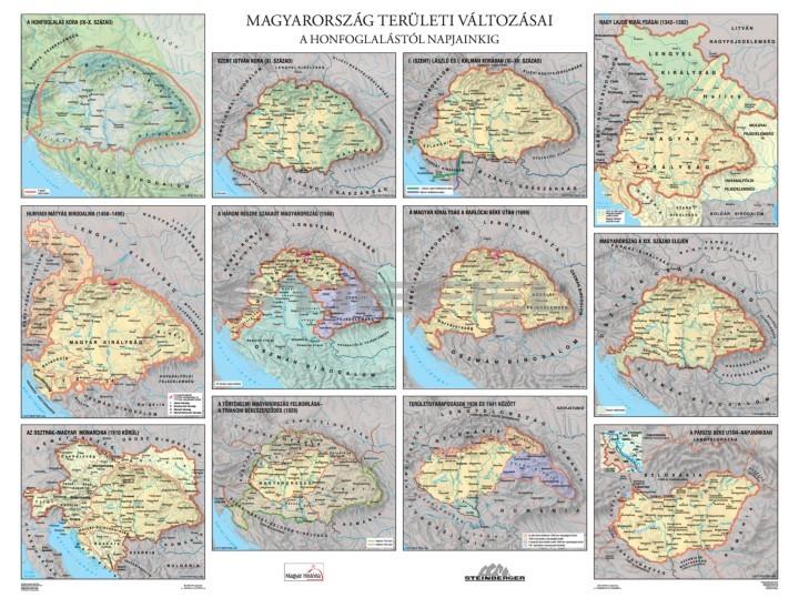 Magyarország területi változásai / Magyar királyok óriásposzter