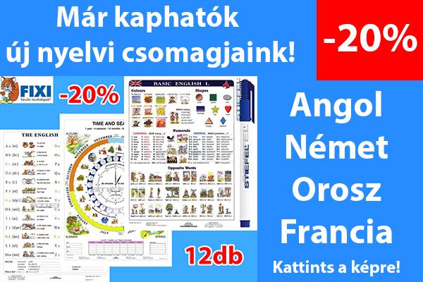 Már kaphatók új nyelvi csomagjaink!
